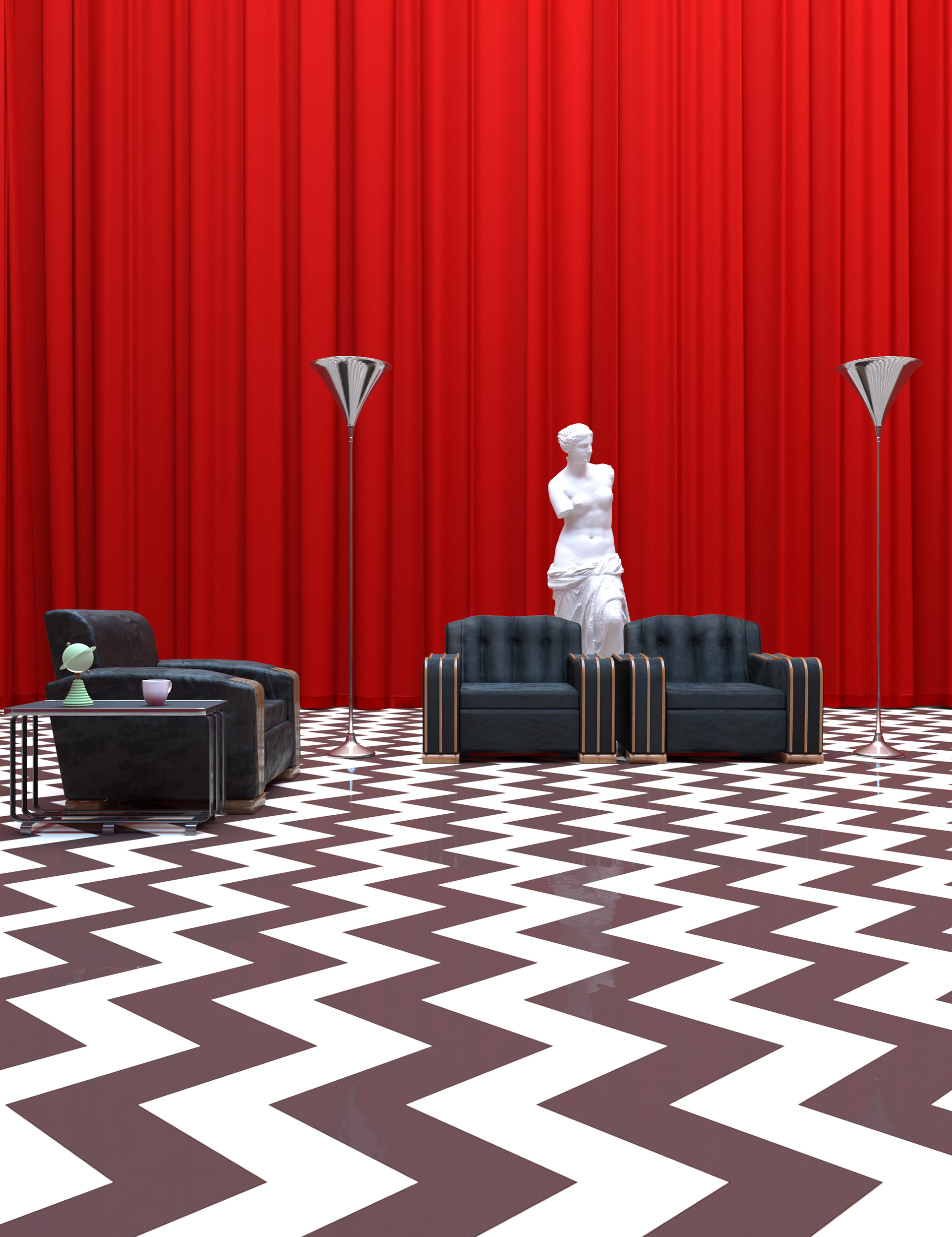 twin peaks Black Lodge cinema big screen