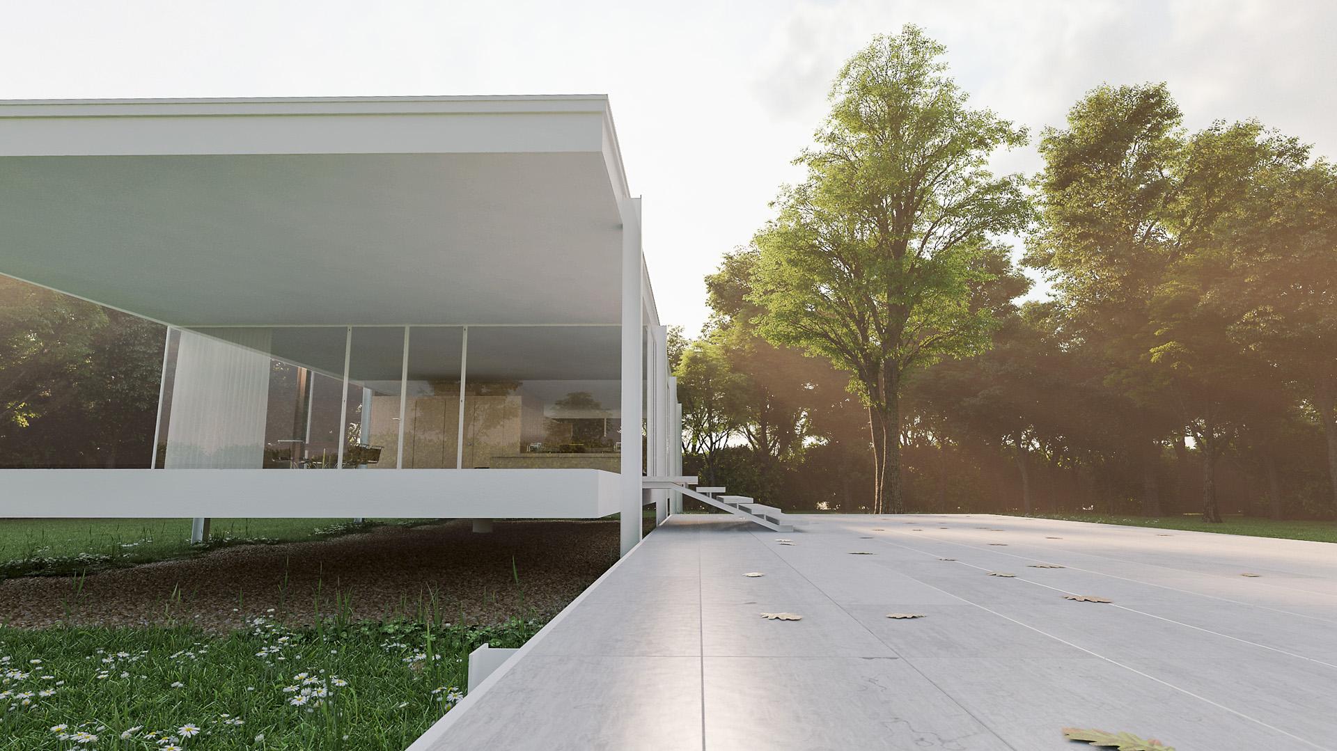 farnsworth house avocad studio ludwig mies van der rohe