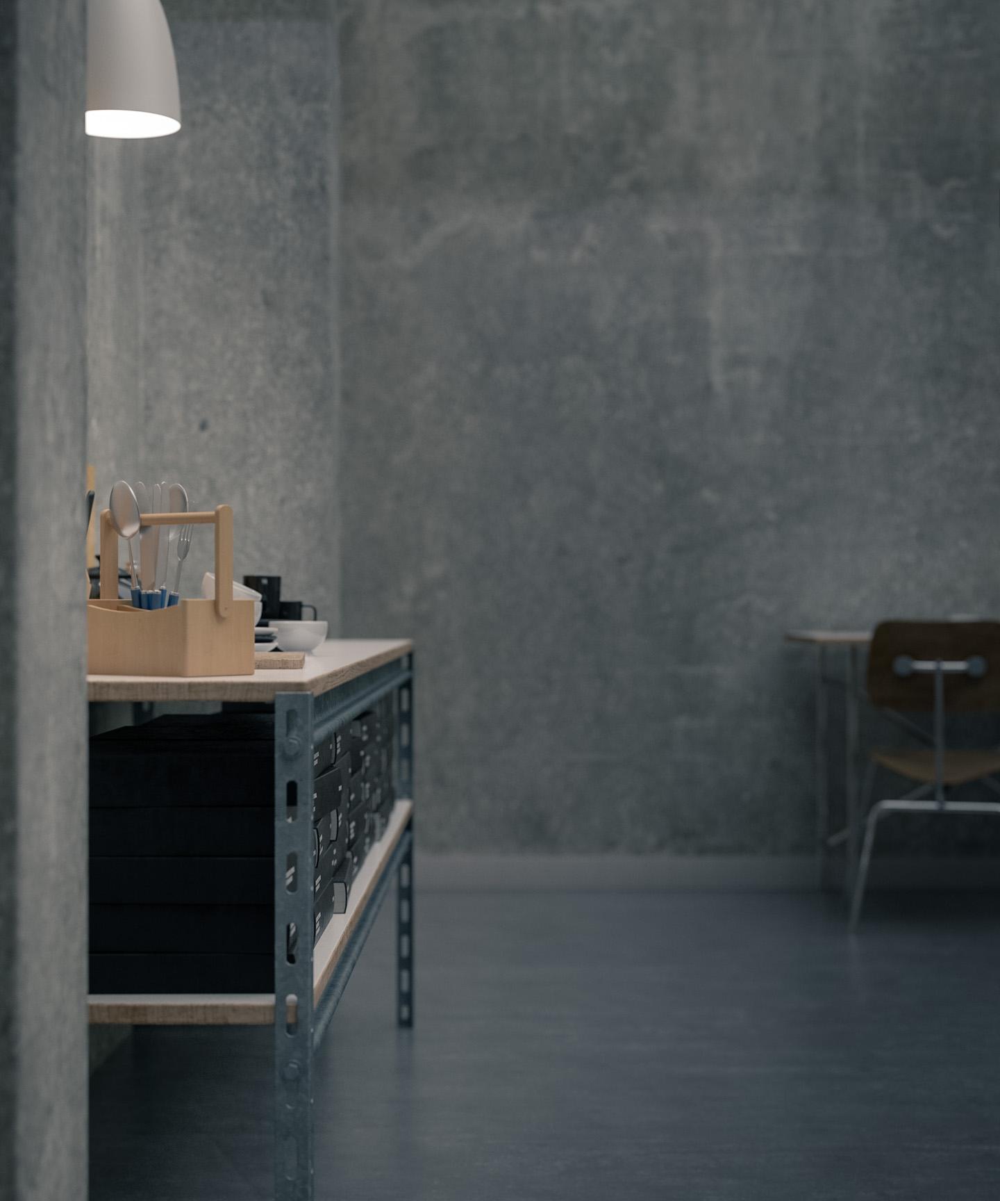 concrete walls 006 CGI