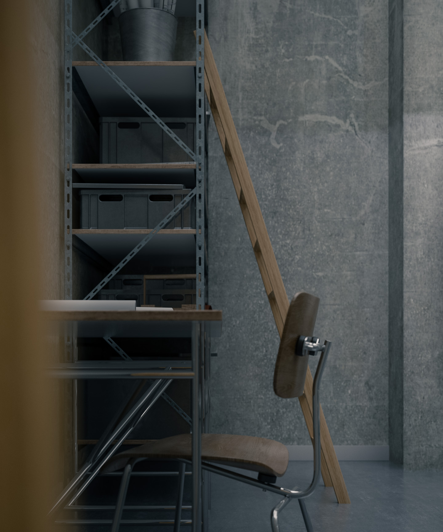 concrete walls 007 CGI